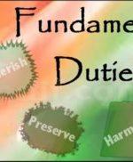 मौलिक कर्तव्य : भारतीय नागरिक के मूल कर्तव्य (Fundamental DutiesinHindi)