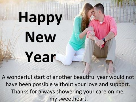 Beautiful New Year Love Suvichar Wishes in English Font